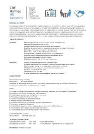 Human Resources Job Description Resume 12 Human Resources Resume Sample Easy Samples With Regard To 25