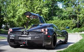 pagani back pictures pagani huayra black cars back view 3840x2400
