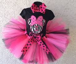 Pink And Black Minnie Mouse Decorations Everything Minnie Mouse Birthday Outifts Pettiskirts Tutu Sets