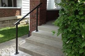Exterior Stair Handrail Kits Easy To Install Outdoor Stair Railing Simplified Building