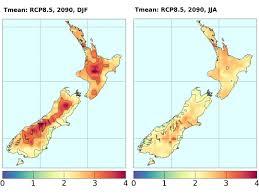 New Zealand Map Climate Change Scenarios For New Zealand Niwa