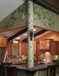 Squirrel In Basement by Authentic Cedar Log Basement Pole Covers Support Post Wrap Rustic