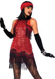 Halloween Costumes 2 Pc Gatsby Costume Includes Sequin Patterned Dress