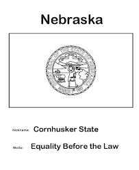 nevada state flag coloring page nebraska state flag coloring page state flags pinterest