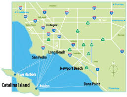 Map Of Florida East Coast Beaches by Where Is Catalina Island Catalina Island