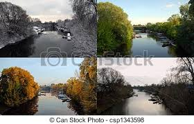 pictures of four seasons photo of the same place in different