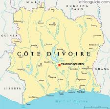 africa map ivory coast ivory coast cote d ivoire guide