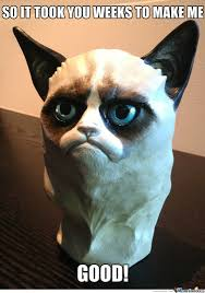 Original Grumpy Cat Meme - grumpy clay cat by nudelsoppa meme center