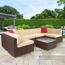 cheap wicker patio furniture fresh outsunny 7 piece outdoor patio