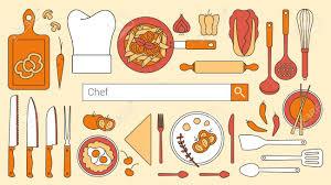 recherche chef de cuisine chef de cuisine restaurant et la bannière cuisine avec barre de