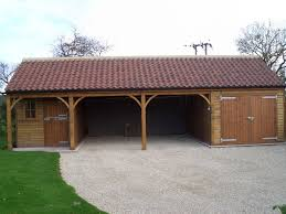 open fronted double garage workshop and boat store north yorkshire