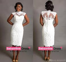 african traditional arabic little white lace sheath wedding