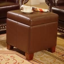 cognac leather ottoman wayfair