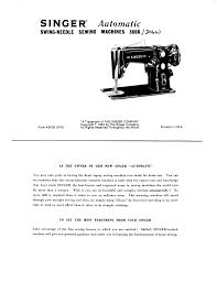 handleiding singer 306k sewing machine
