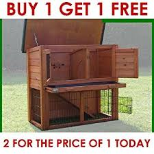 Double Rabbit Hutches Double Decker With Run Rabbit Hutch Hutches Guinea Pig House Home