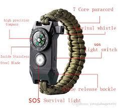 paracord rope bracelet images 2018 new design mix color climbing rope survival cord bracelets jpg