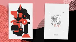 Graphic Design Holiday Cards Buck Holiday Card U2014