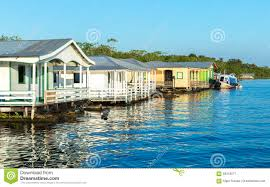 floating houses in manaus amazon brazil stock photo image