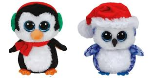 amazon ty icicles u0026 north christmas beanie boos 2