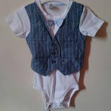 h m hm hnm baby boy formal onesie bowtie and vest babies
