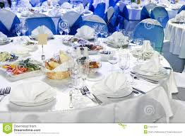 catering service table decoration stock image image 17537241