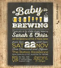 couples shower invitations a baby is brewing coed baby shower invitation baby