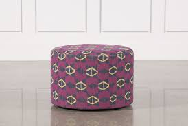 Purple Ottoman by Justina Blakeney Pow Wow Om Ottoman Living Spaces