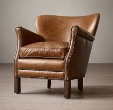 chestnut leather chair foter