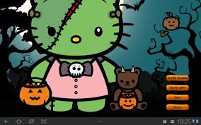 cute halloween desktop background hello kitty halloween wallpaper downloadwallpaper org