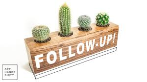 Cactus Planters by Follow Up Cactus Planter Making A Wooden Plate Youtube
