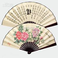 silk fan 2017 personalized large silk folding fan mens
