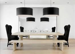 Black Modern Dining Room Sets Divine Image Of Modern Light Fixtures For Dining Room Decorating