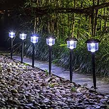 solar lights voona solar pathway lights outdoor 8 pack led garden