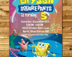 spongebob birthday etsy