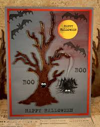 Happy Halloween Rubber Stamp Halloween Card Making Or Party Favors