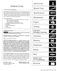 honda accord 1986 ca 3 g workshop manual