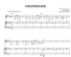 Youtube Chandelier Chandelier Sia Sheet Music And Midi Download Youtube
