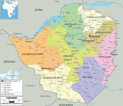 What Is A Physical Map Detailed Clear Large Map Of Zimbabwe Ezilon Maps