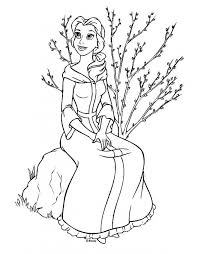 belle coloring pages print girls 58301