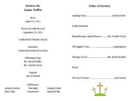 Funeral Ceremony Program 10 Best Images Of Memorial Service Program Template Sample