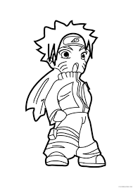 naruto coloring pages with kakashi coloring4free coloring4free com