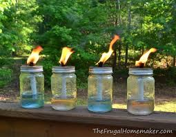 How To Use Mason Jars For Decorating Diy Mason Jar Tiki Torches 5 Minute Project