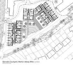 Courtyard Planning Concept Bennets Courtyard Merton Abbey Mills Work Fcbstudios