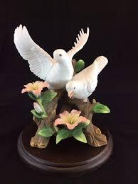 homco home interiors masterpiece porcelain love u0027s song dove birds