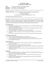 Resume Examples Retail Sales by Download Resume Store Haadyaooverbayresort Com