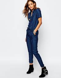 sleeve denim jumpsuit store ootd magazine