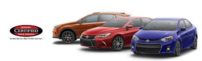 toyota certified pre owned cars toyota certified pre owned models near outer toyota of