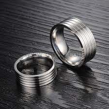 titanium wedding ring sets engraved matching titanium wedding bands set for 2 personalized