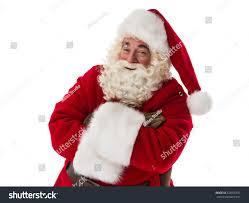 santa claus smiling hands crossed closeup stock photo 328976957