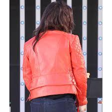 pink leather motorcycle jacket kristen stewart jacket red leather quilted motorcycle jacket